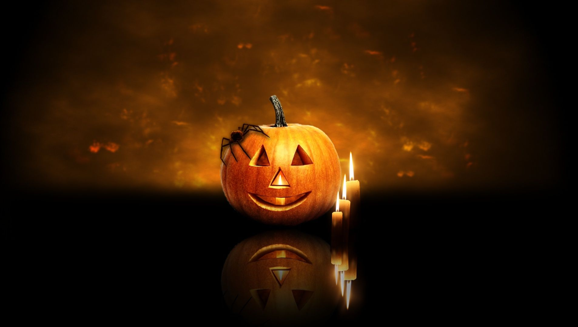 Download 50 Cute And Happy Halloween Wallpapers Hd For Free Pumpkin Wallpaper Happy Halloween Pictures Halloween Candles