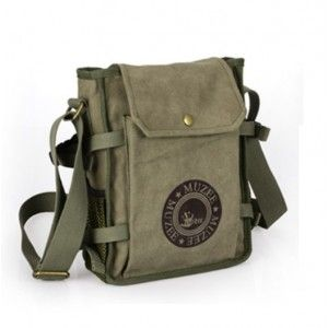 f591ad84e3 Mens canvas and leather shoulder bag
