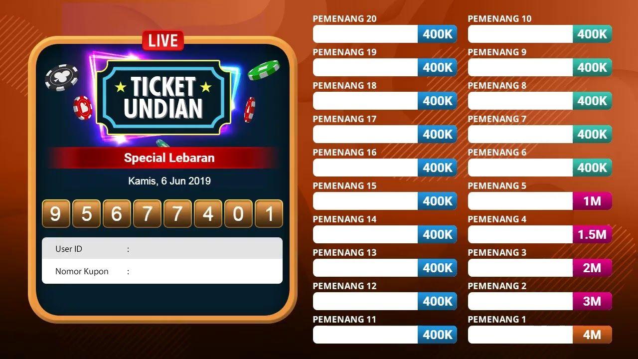 Berikut Adalah Daftar Dari 20 Pemenang Tiket Undian Special Lebaran Selamat Untuk Para Pemenang Dan Pantau Terus Event Dari Dewalive B Website Tiket Lebaran