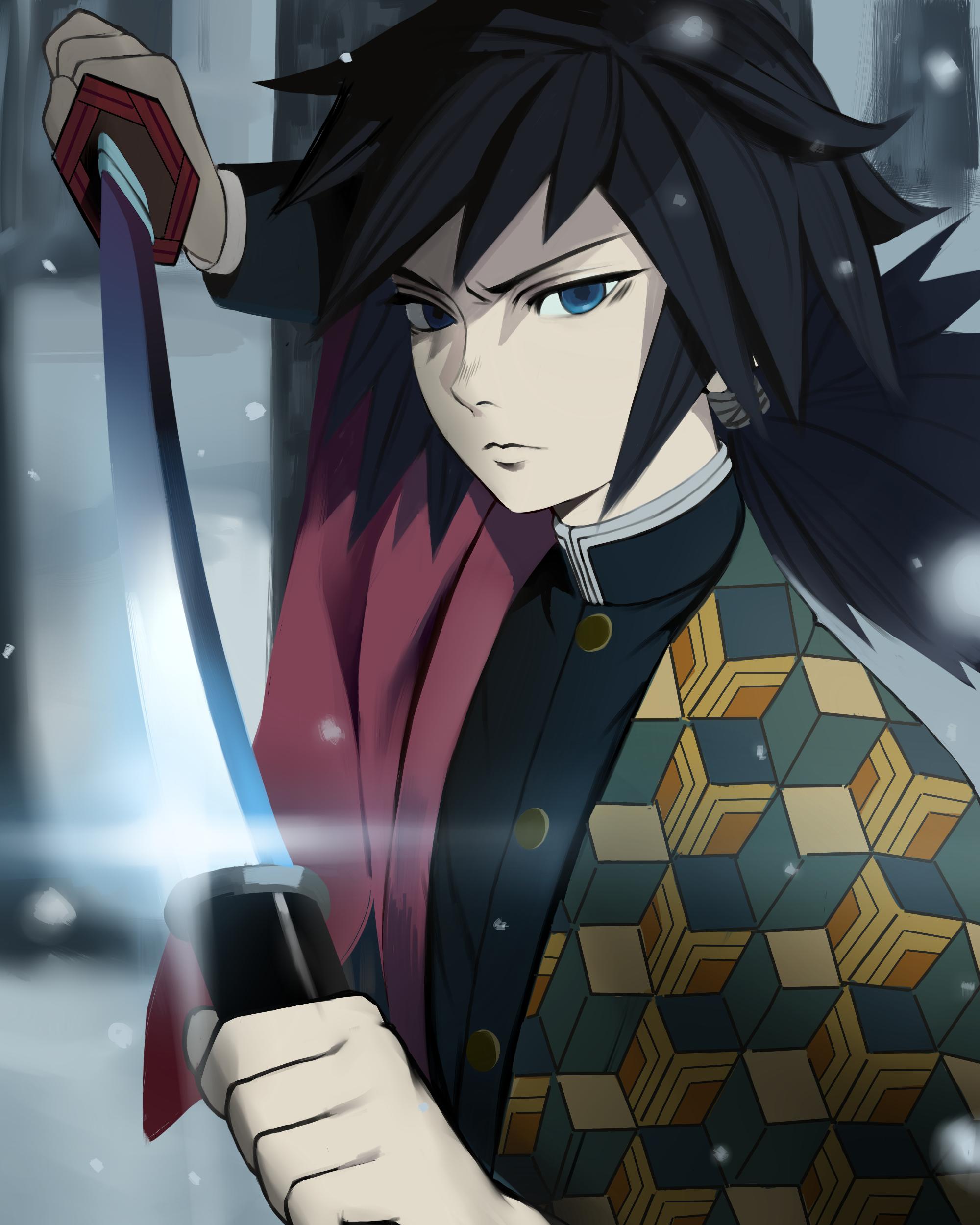 Giyuu from KIMETSU NO YAIBA Menina anime, Personagens de