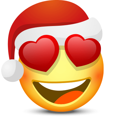Love-Struck Santa - Facebook Symbols and Chat Emoticons