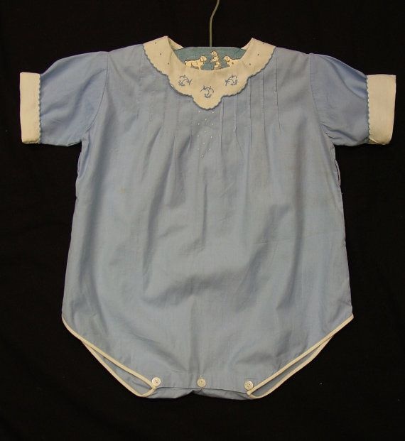 Cute Vintage Baby Boy Romper, Hand Made in Philippines, Embroidery ...