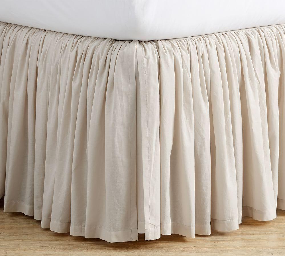 Voile Cotton Bed Skirt In 2021 Diy Bed Skirt Bedskirt Linen Bedskirt