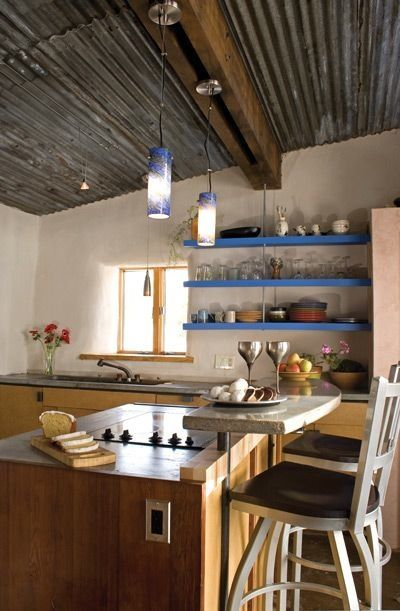 Awesome kitchen in straw bale home