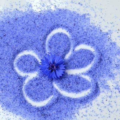 S-Küche: Kornblumenblau.....Kornblumenzucker