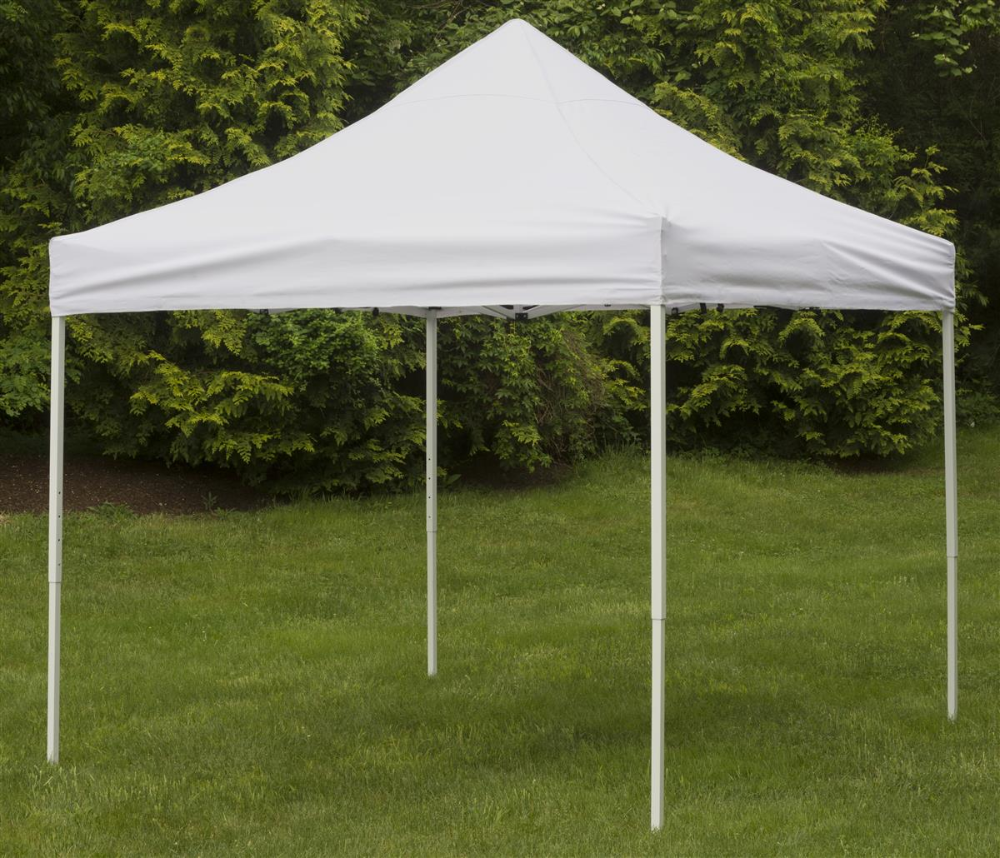 10 X 10 Outdoor Canopy Tent Pop Up Portable Square White In 2020 Canopy Tent Outdoor Canopy Outdoor Patio Gazebo