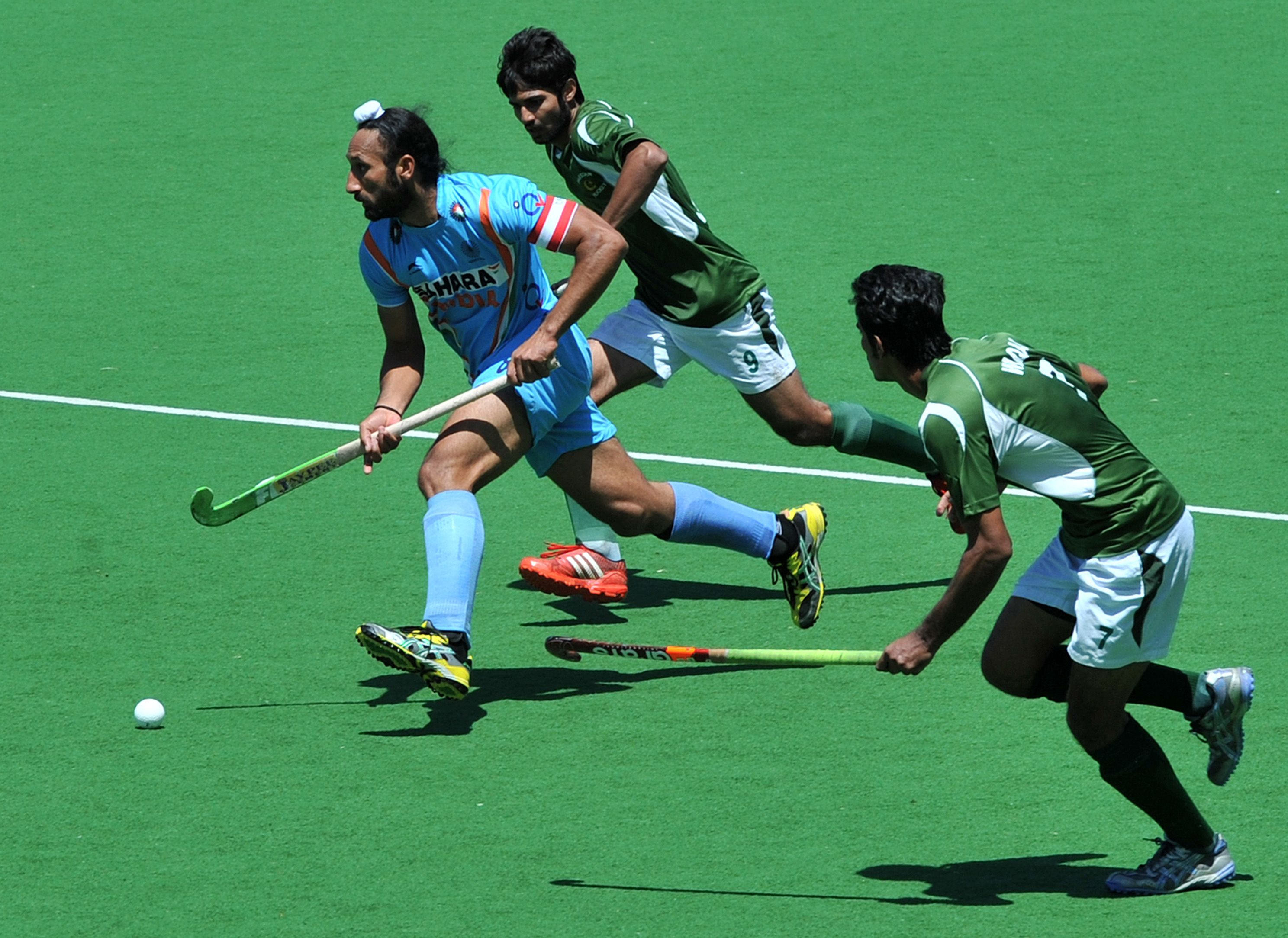 Sports Wallpaper For Walls India: An India, Pakistan Hockey Match Is In Progress