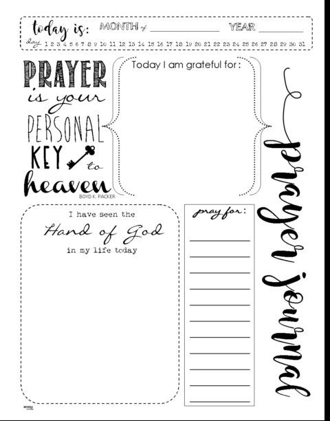 Start a PRAYER JOURNAL for More Meaningful Prayers: FREE