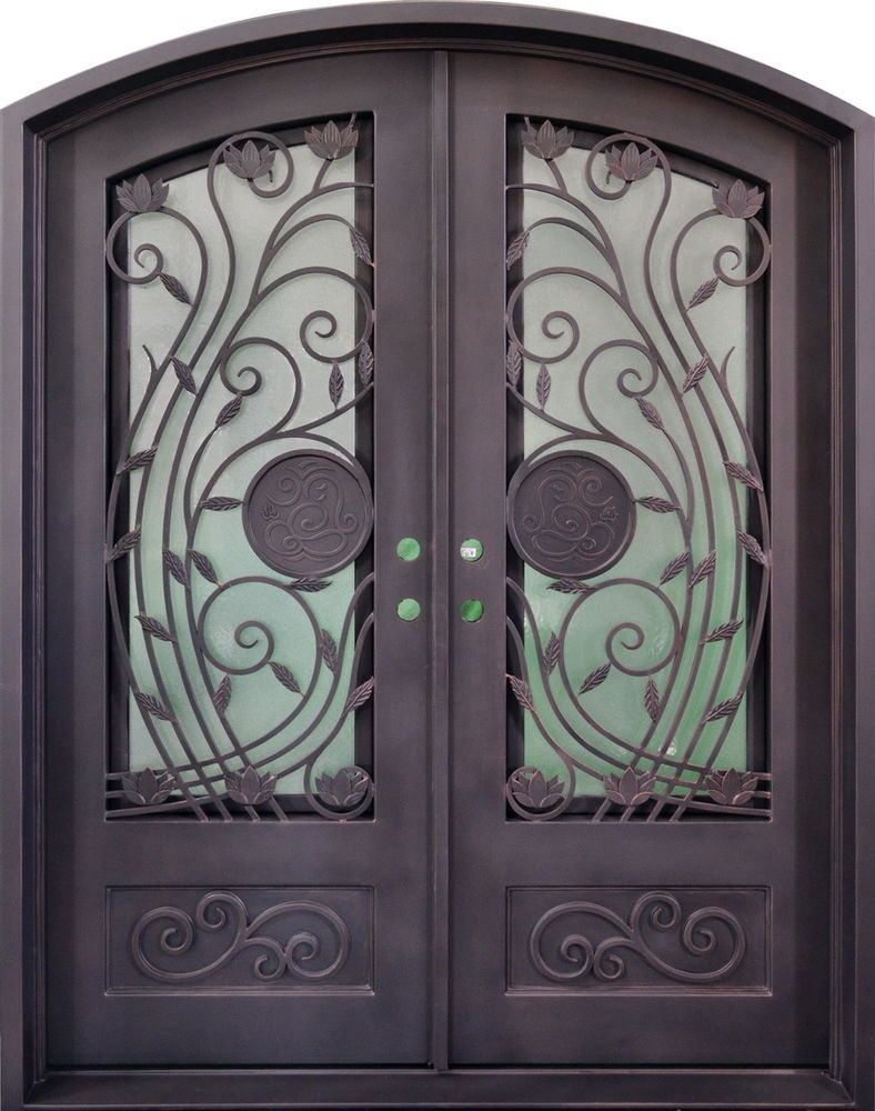 Stunning Hand Crafted 12 Gauge Wrought Iron Entry Doors 72 X 96 Ebay Wrought Iron Entry Doors Iron Entry Doors Iron Front Door