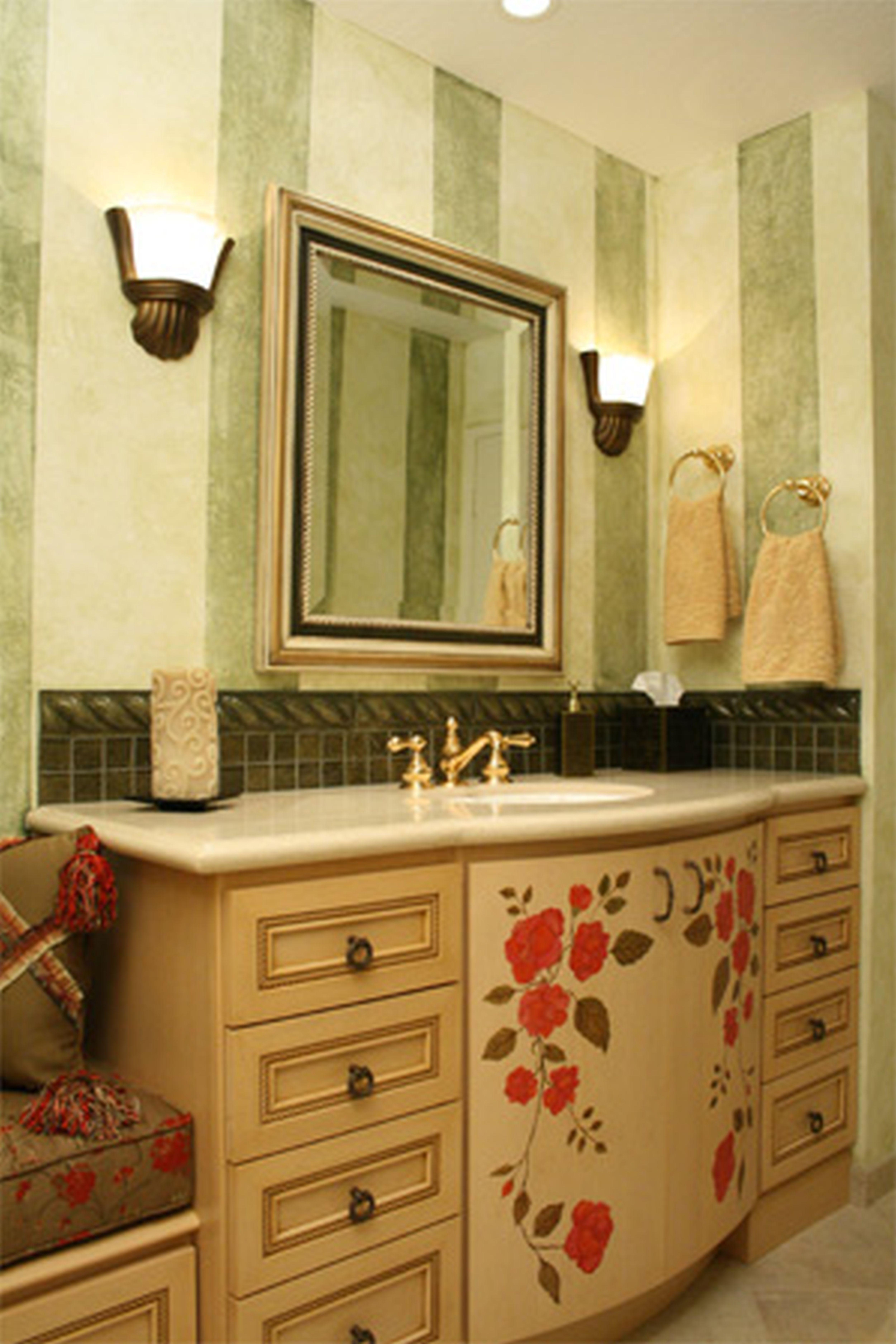 Vanity and Wall Color --- Small Bathroom pale grey floors | Dark ...
