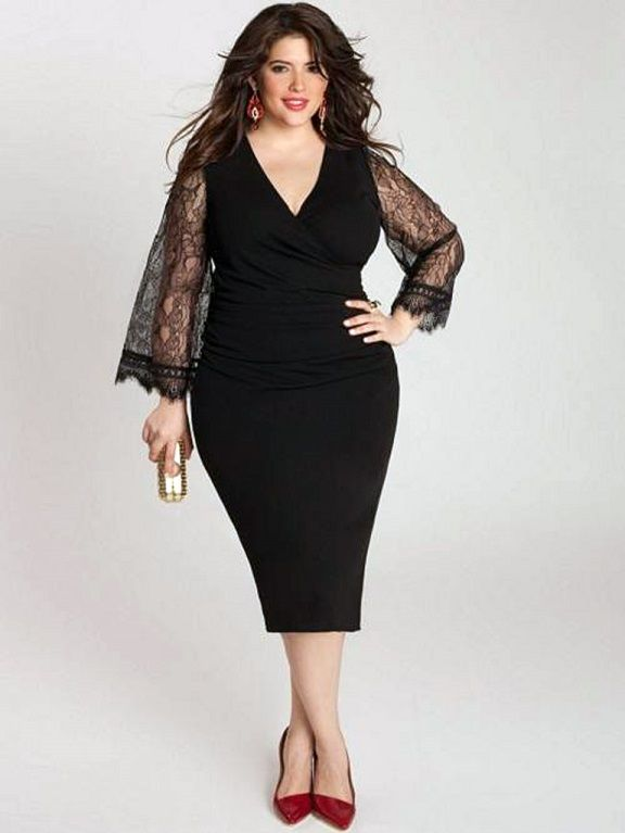 cutethickgirls plus size cocktail dresses with sleeves (07