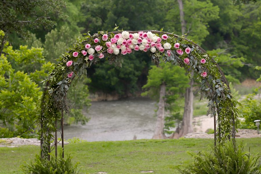 """Marquardt Ranch between Frederickburg and Boerne... Say, """"I DO!"""" on the banks of the beautiful Guadalupe River... in house floral! PERFECT!"""
