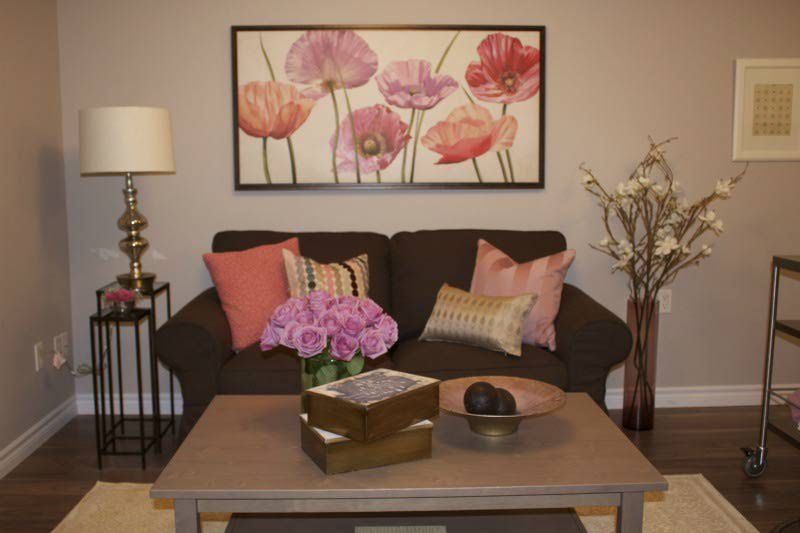 grey couch pink accents | Pink Couches Living Room Design : Pretty ...