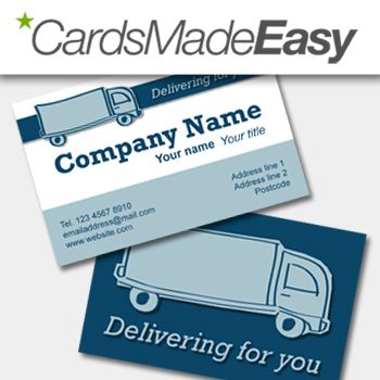 Are You Courier Company We Have This New Business Card Template Just For You Order It Today Its Simpl Email Design Business Card Design Courier Companies
