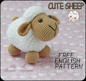 Samyelinin Örgüleri: Cute Sheep Free Pattern #freeamigurumipatterns
