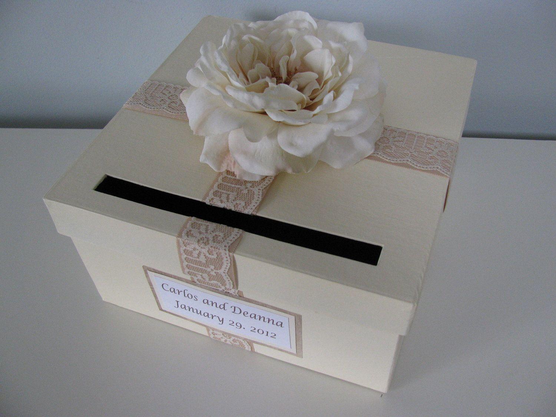 Card box bridal shower engagement anniversary wedding card