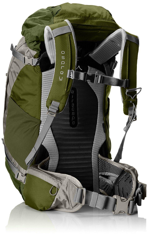 Osprey Backpack Kestrel 48 (Backside) Product Description