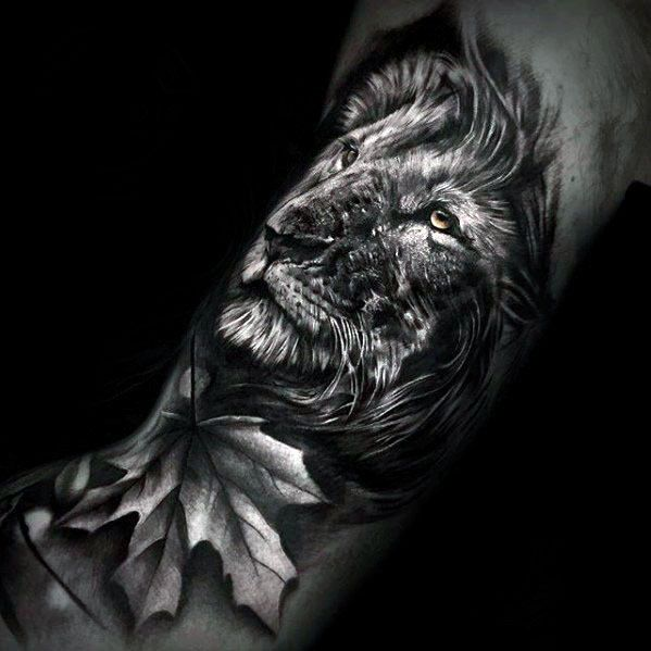 Top 51 Realistic Lion Tattoo Ideas 2020 Inspiration Guide Lion Head Tattoos Lion Tattoo Design Black And White Lion