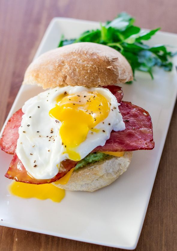 awesome Smashed Avocado Bacon Breakfast Sandwiches - Jo Cooks