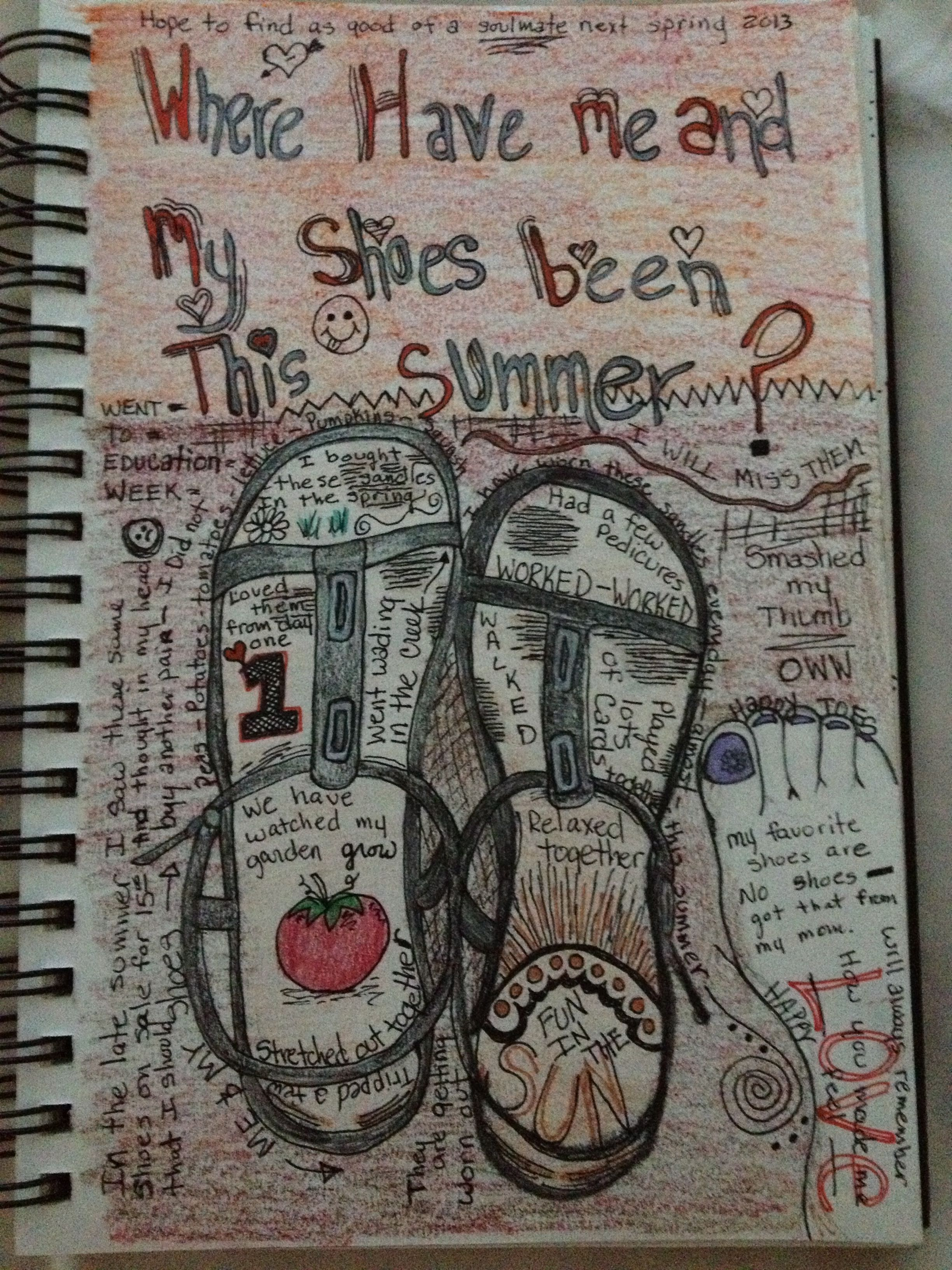 Me and my shoes. great writers notebook  idea page