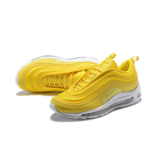 Nike Air Max 97 Ultra SE White Black Yellow Sneakers Women's Men's Running Shoes