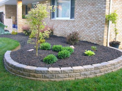 retaining wall front yard landscaping