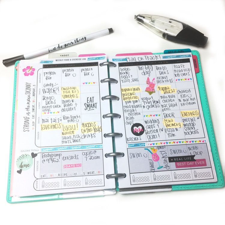 end of February FITNESS check-in w/ The Happy Planner® Fitness