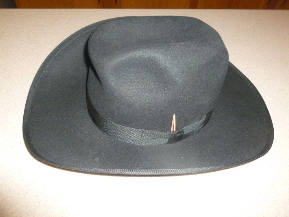 NEW Resistol Self-Conforming XDOUBLEX Felt Western Cowboy Hat Size 7 3 8   Resistol  CowboyHat 2e8f6be2e5f3
