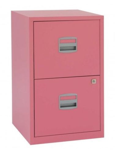 1d89ed0dbf0 Metal-Filing-Cabinet-2-Drawer-Office-Storage -Industrial-Stationary-Lockable-Home