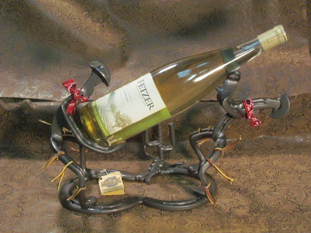 Horseshoe Cowboy Wine Bottle Holder By Nail It Creations See This