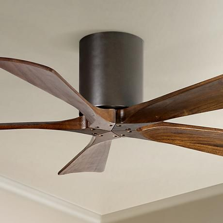 42 Matthews Irene 5 Blade Walnut Bronze Hugger Ceiling Fan