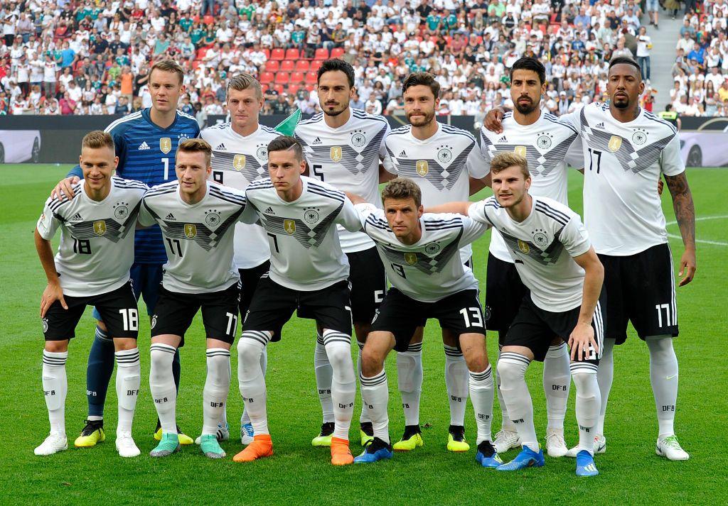 Leverkusen Germany June 08 Joshua Kimmich Of Germany Marco Reus Of Germany Julian Draxler Of Germany Thomas Mueller Marco Reus Toni Kroos Julian Draxler