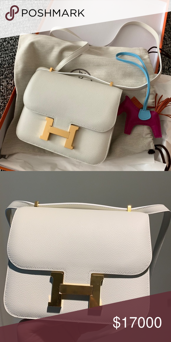 b344ba84b7df4 Hermes white constance 19 evercolor It is 100% authentic Hermes bag. Its  brand new