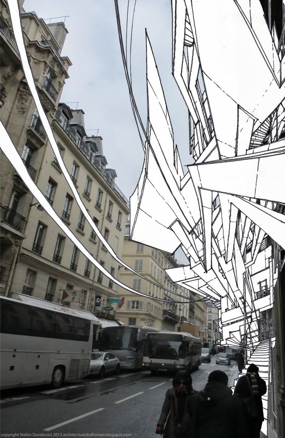 stefan_davidovici Paris - drawing and collage