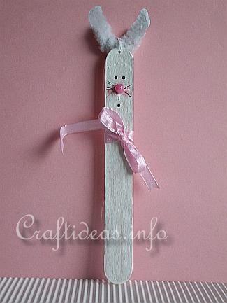 Bunny Craft Stick Craft for Kids