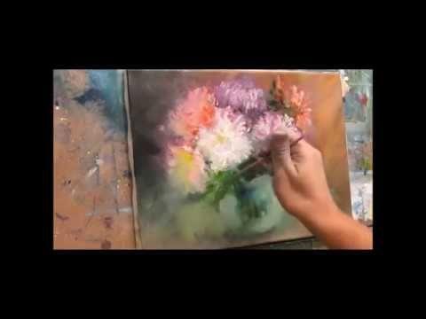 Yagli Boya Resim Teknikleri Cicek Yapimi Youtube Oil Painting Flowers Flower Drawing Oil Painting Techniques