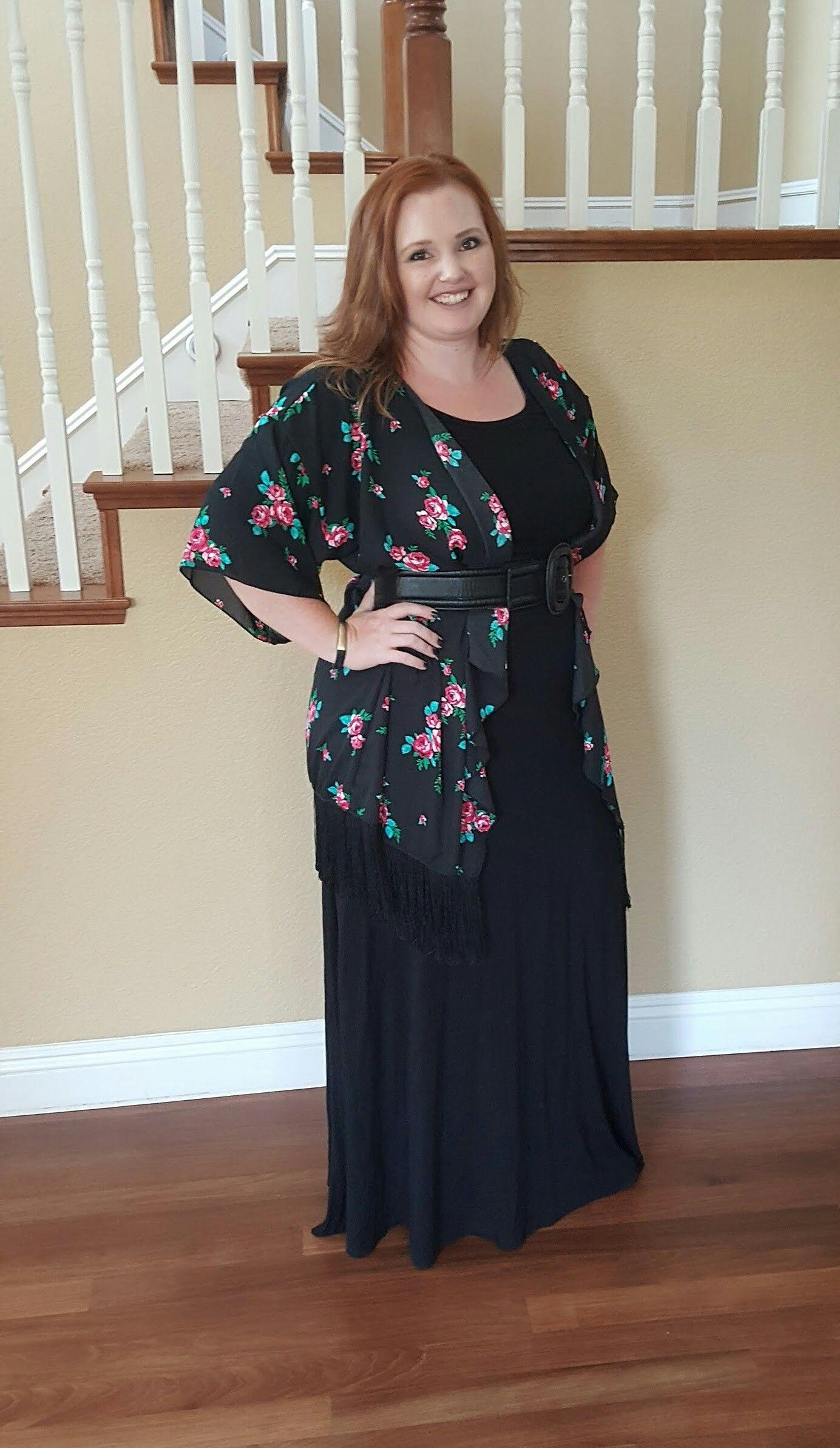 Lularoe Ana dress with a beautiful floral Monroe!  https://www.facebook.com/groups/SarahDamonteLuLaRoe/?pnref=story