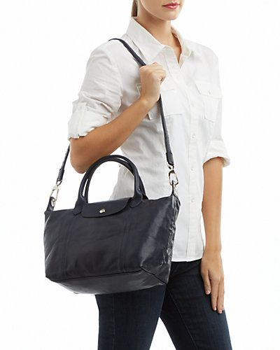 db9a91fd12a8 Longchamp  Le Pliage Cuir  Small Leather Tote
