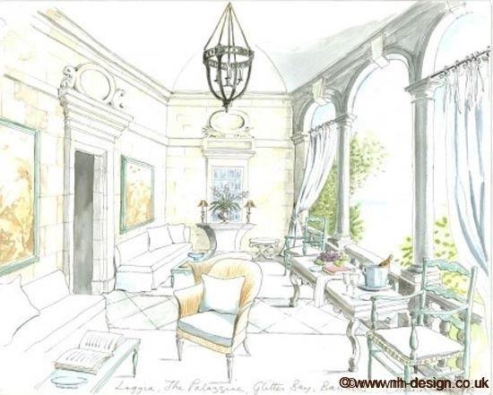 Interior Design Watercolor Rendering Mirror Google Search