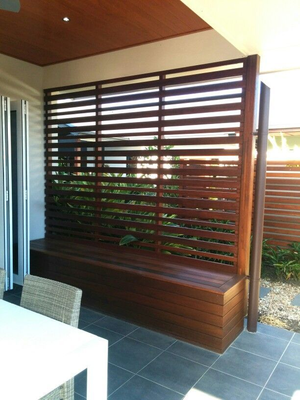 Zaun Holz Modern Privacy Walls Front Entry - Google Search | Backyard
