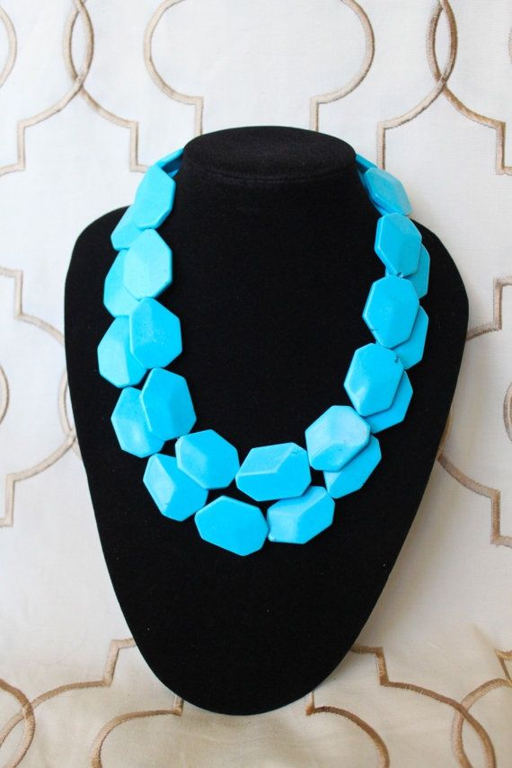 flat stone turquoise necklace