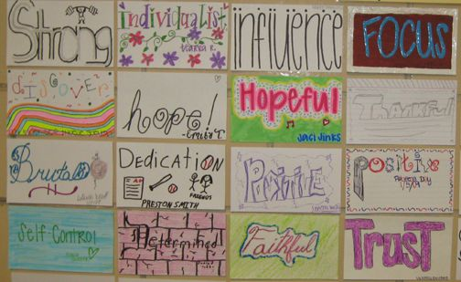 Student Work   A Wall of Intention