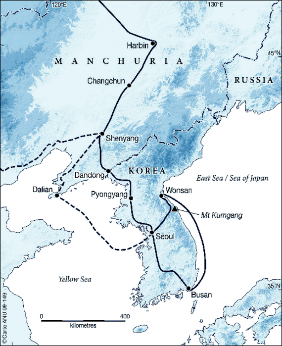 Map Of Kemp And Macdougall S Itinerary Through Manchuria And Korea