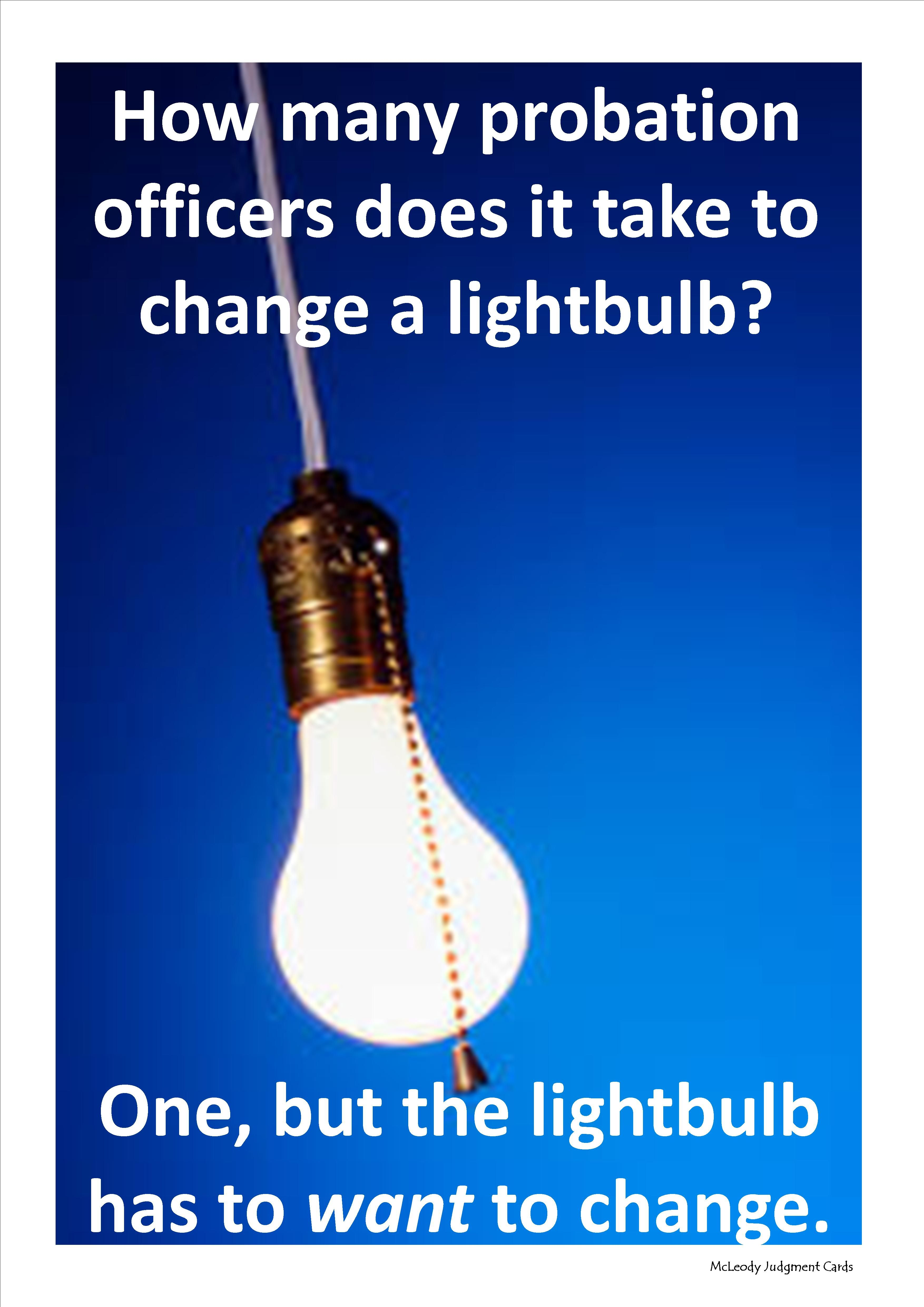 Probation Officers Do It Under Special Conditions.