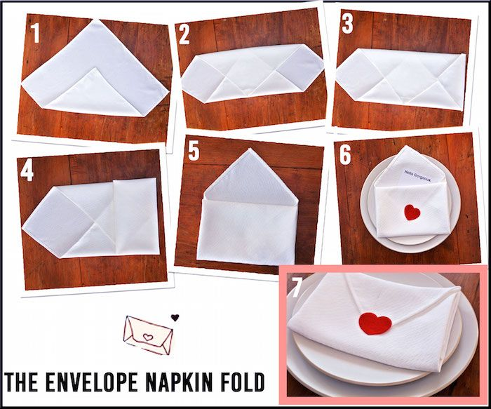 Romantic Napkin Folding   The Envelope