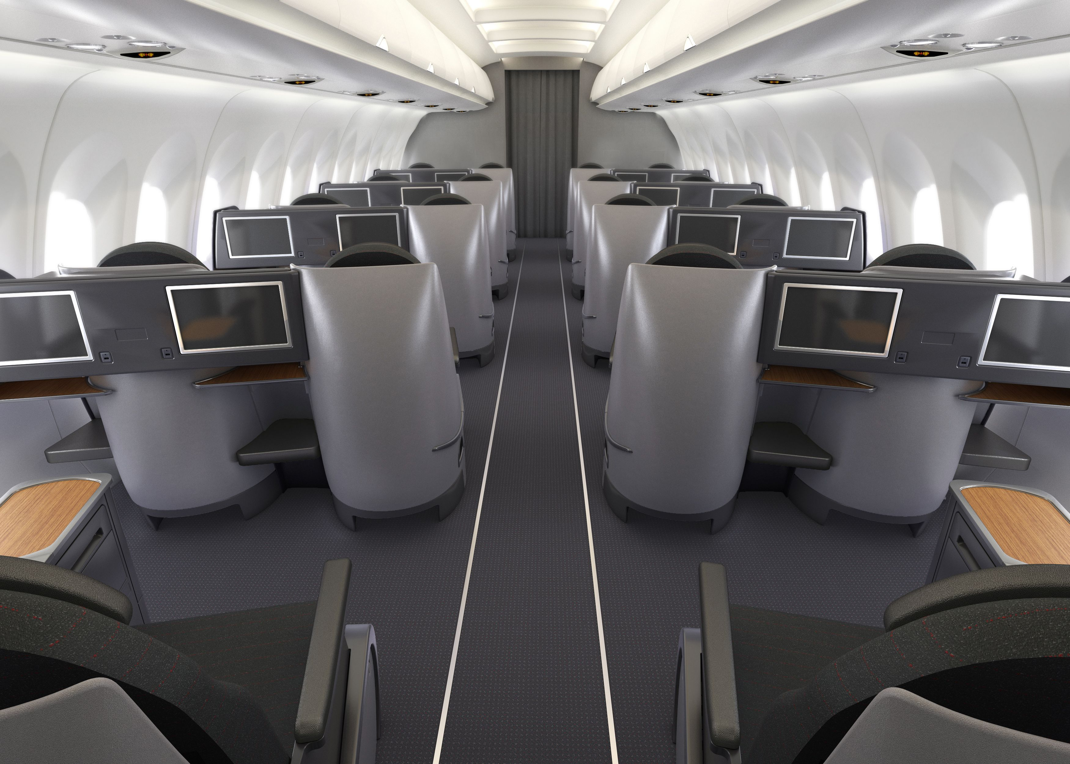 Our new A321T Business Class cabin features 20 fullylie