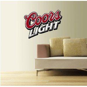 Coors Light Beer Wall Decal 25 Wall Decor Stickers Football Wall Beer Wall