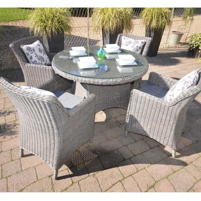 Saigon Heritage 4 Seat Round Dining Set. Great for outdoor dining or ...