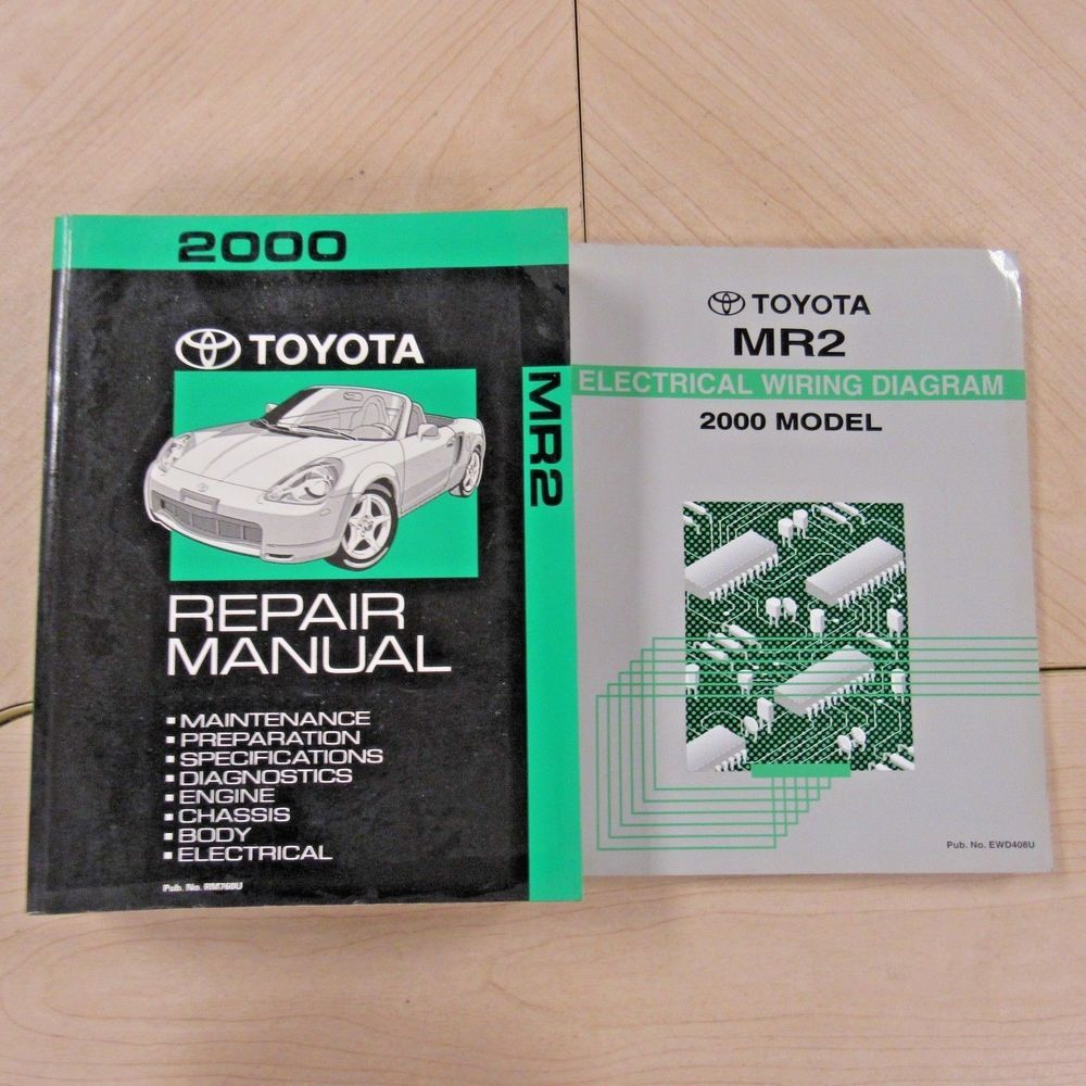 2000 Toyota Mr2 Spyder Service Manuals 00 Repair Shop Set Wiring Engine Diagram Diagrams