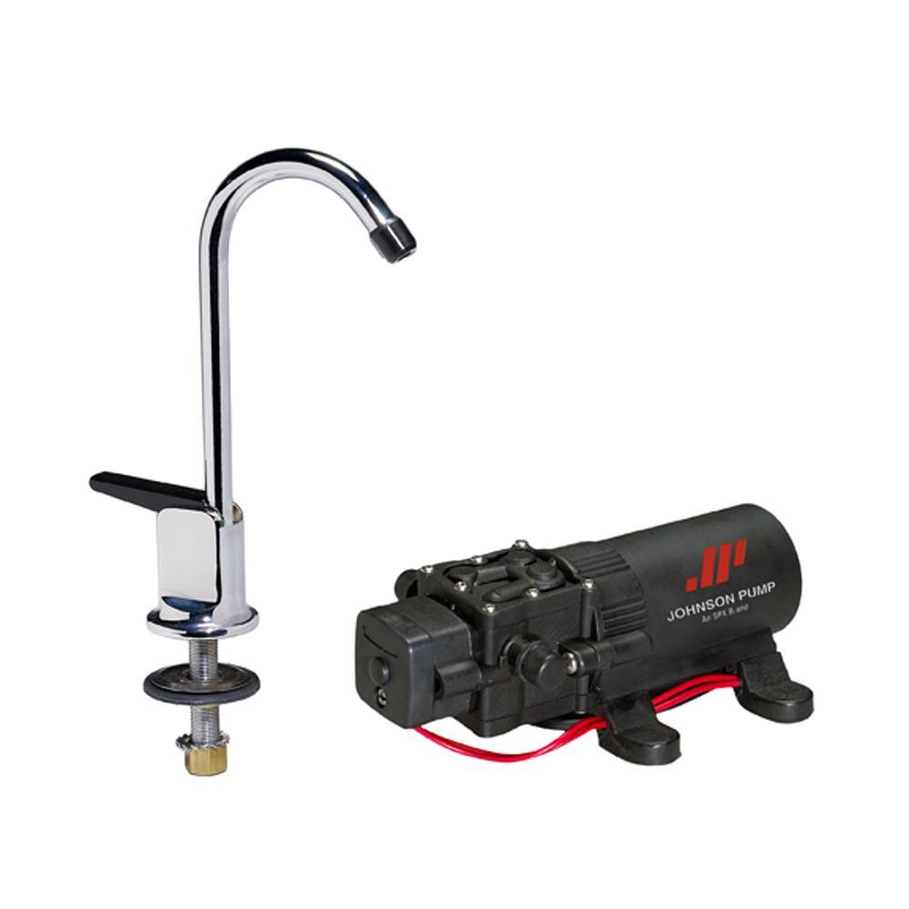 Johnson Pump 1 1 Pump Faucet Combo 12v Faucet Pumps Brass Faucet